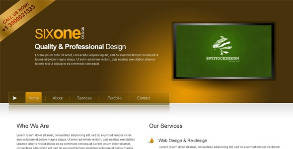 SixOne PSD Template Free Download