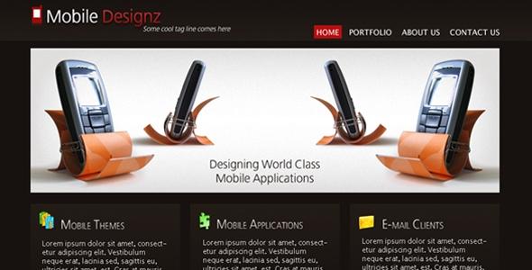 Mobile Designz PSD Template Free Download