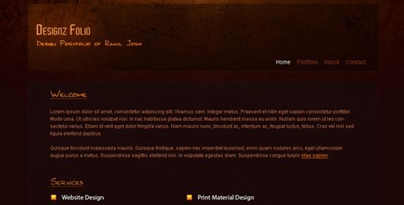 Designz Folio Portfolio Template Free Download