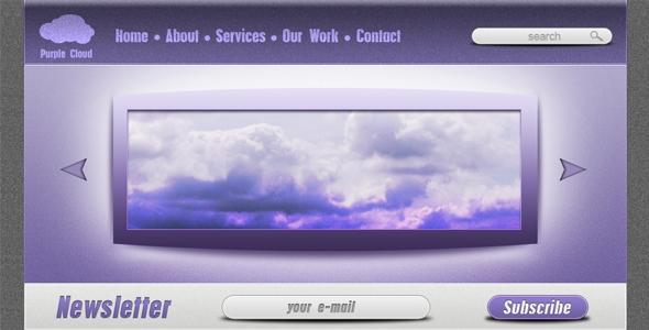 Purple Cloud – creative PSD template Free Download