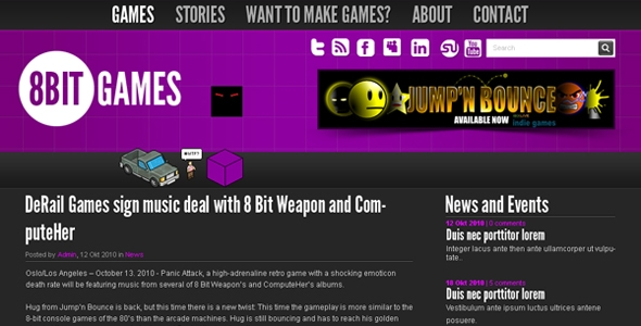 8Bit Gaming – Blog PSD Free Download