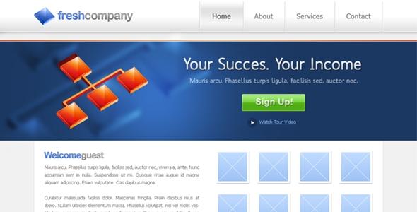 Fresh Company Website Free Download