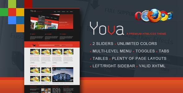 Yova | A Premium HTML/CSS Theme Free Download