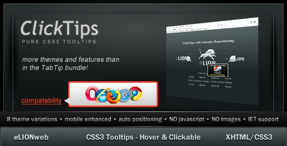 CSS3 Tooltips - ClickTips