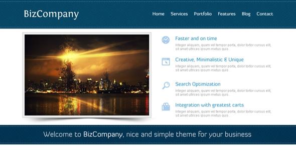 BizCompany PSD Template Free Download
