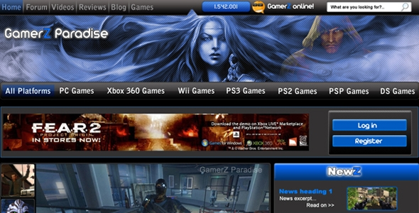 Gaming Website Template: Gamerz Paradise Free Download