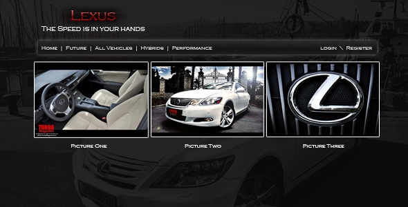 Modern Car Site With Black Color