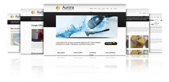 Aurora - 9 Color Variations xHTML Template