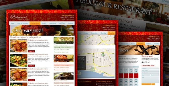 Restaurant – Modern & Professional PSD Template Free Download