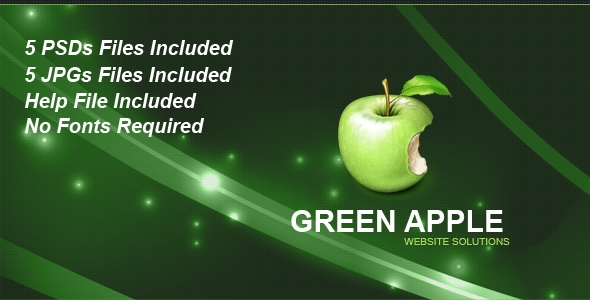 Green Apple PSD Template Free Download