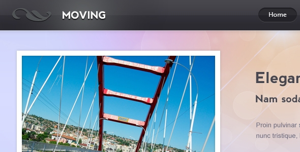 Moving – PSD template Free Download
