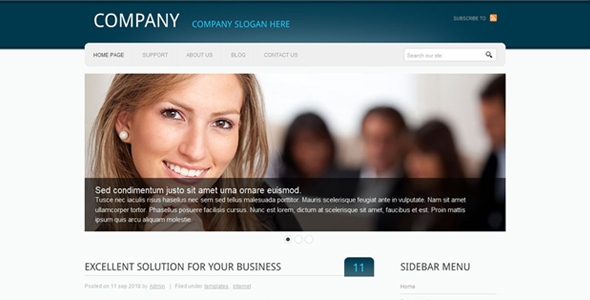 Beautiful Business Website Free Download