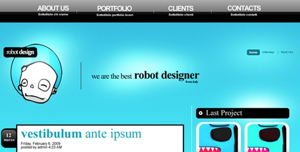 Robot Design PSD Free Download