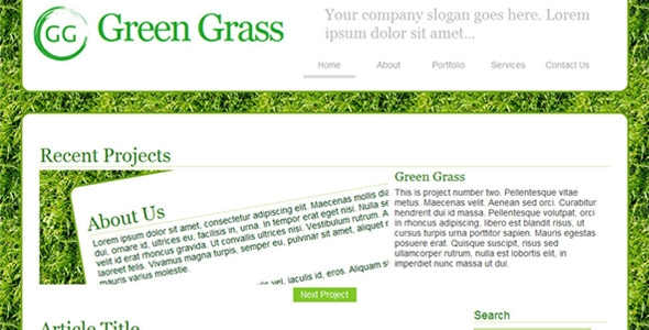 Green Grass Business Template Free Download