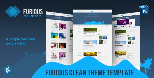 Furious | A simple clean and unique design PSD Template Free Download