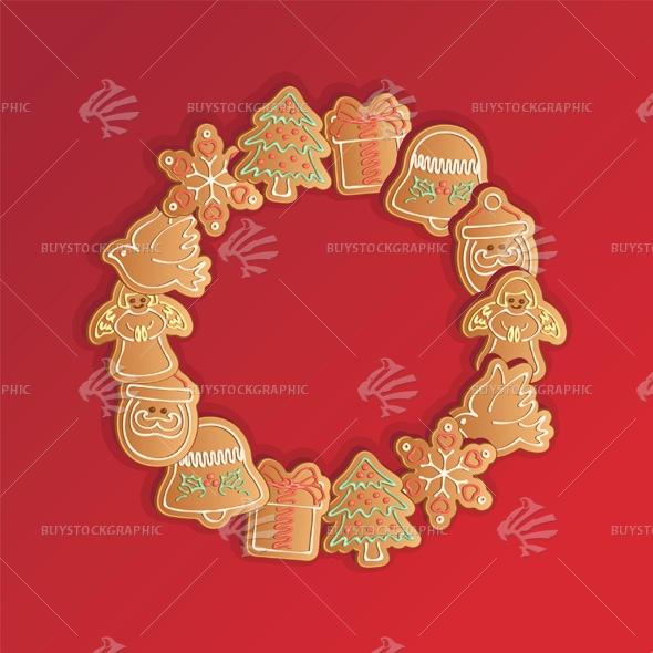 Christmas Gingerbread Cookies Garland