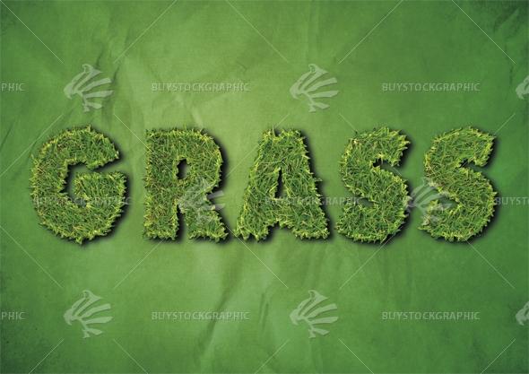 Grass text