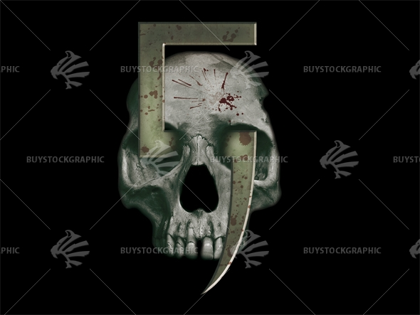 skull with a sickle