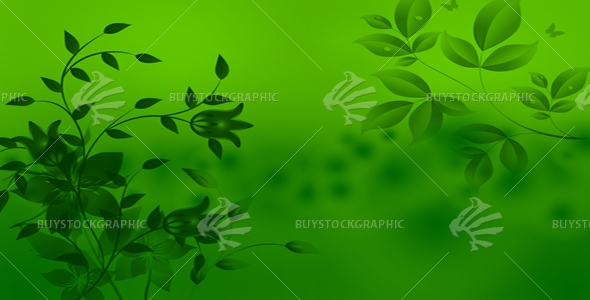 Abstract Green Leafe