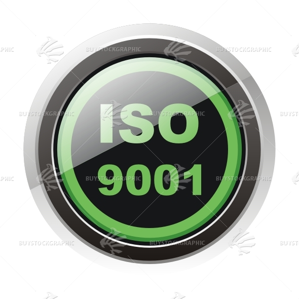 ISO 9001 button sign