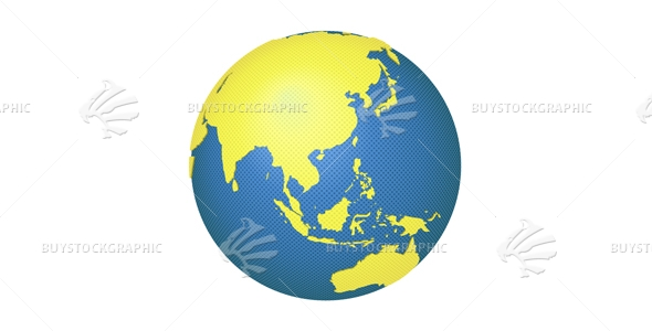 Globe with Asia and Australia