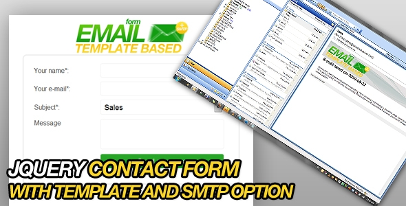 PHP & JQuery SMPT e-mail form with template support