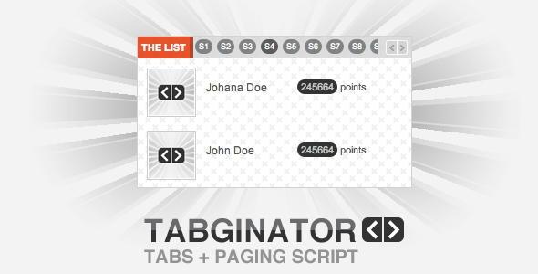 Tabginator Tabbing and Paging