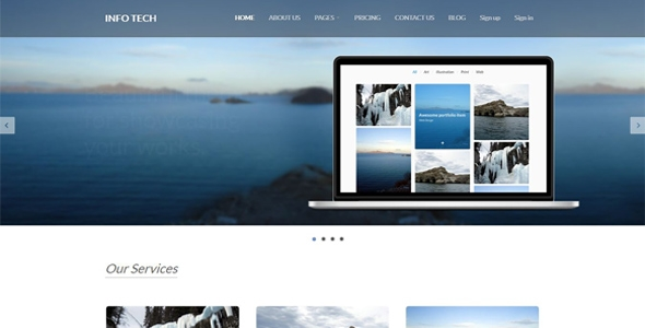 IntoTech - Responsive HTML Template
