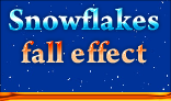 Snowflakes fall effect