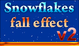 Snowflakes fall effect V2