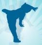 Silhouette breakdance animation