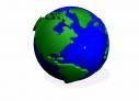 3d Green Earth Globe spinning animation loop