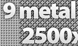9 metal patterns