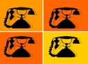 Phone call. Old style phone animation