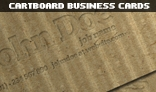 Cartboard Business Cards