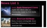 HTML News Ticker AS2