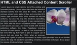 HTML and CSS Attached Content Scroller