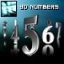 3D Metalic Rotating Numbers