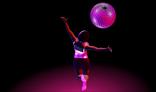 Happy Girl Spinning Disco Ball