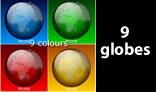 Multi colour Transparent Globes