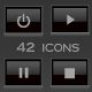 42 adio/video icons