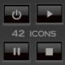 42 adio/video icons