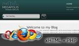 MEGAPOLIS. xHTML + PHP web template