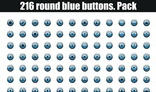 216 round blue buttons.Pack