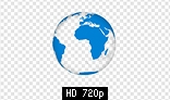 HD Spinning Earth Globe (for light background)