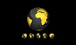 3D Earth Globe: Black & Yellow