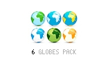 3D Earth Globes: Pack of 6