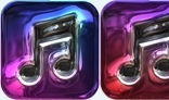 3D rendered music icons