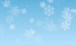 Random falling different snowflakes.