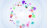 Swirl of flowers. AS3.0. Flash animation 4Kb only.
